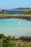 The bay between St. Agnes and Gugh. Royalty Free Stock Photo