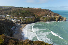 Bay at St Agnes North Cornwall England UK Stock Photography