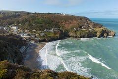 Bay at St Agnes North Cornwall England UK Stock Photography