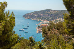 Bay - St Jean Cap Ferrat. View of the bay of St Jean Cap Ferrat, Cote D'Azur, France Royalty Free Stock Photos