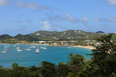 Bay on St. Lucia Royalty Free Stock Photography