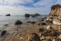 Bay at Stoupa Royalty Free Stock Photography