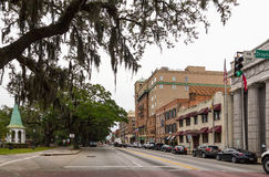 Bay Street in Savannah, Georgia Stock Image