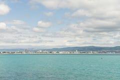 Bay of Sunny Beach, Bulgaria Royalty Free Stock Photography