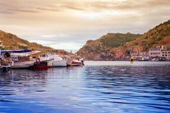 Bay at sunset Royalty Free Stock Image