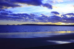Bay sunset Royalty Free Stock Photo