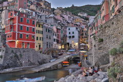 Bay Sunset Riomaggiore Royalty Free Stock Photography