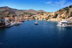 Bay on symi island, Greece Stock Photography