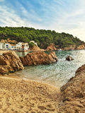 The bay of Tamariu in Spain stock photography