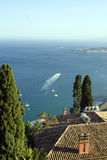 Bay of taormina sicily Royalty Free Stock Photos