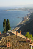 Bay of taormina sicily Royalty Free Stock Images