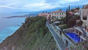 Bay of Taormina Sicily Stock Image
