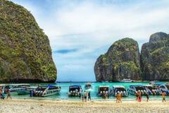 Bay of thailand. Maya Bay of thailand Royalty Free Stock Images