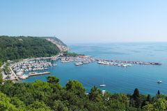Bay with tourist resort in gulf of Trieste Stock Photography