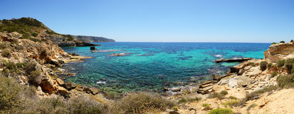 The bay and turquoise water on Mallorca island. Spain Stock Photography