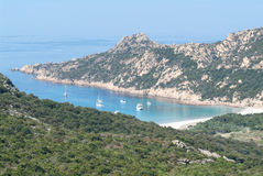 The bay of Ventilegne on the island of Corsica Stock Images