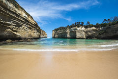 Bay in Victoria, Australia. Bay near the popular attraction The twelve Apostles on the Great Ocean Road in Southern Australia(Victoria&#x29 stock image