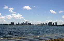 Bay view. Miami bay Stock Photo