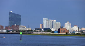 Bay view of the Atlantic City, New Jersey Royalty Free Stock Image