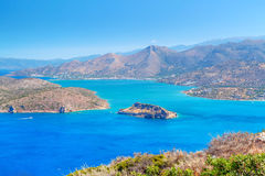 Bay view with blue lagoon on Crete Royalty Free Stock Image