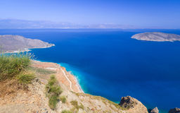 Bay view with blue lagoon on Crete. Greece Stock Photo