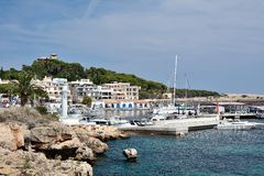 Bay view in Cala Ratjada Stock Photography