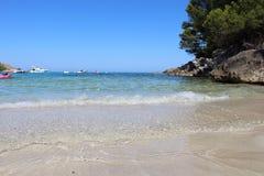 Bay view in Font de sa Cala Stock Photography