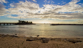 Bay View From A Secluded And Serene Beach On The North West Coast Of Barbados. Stock Photos