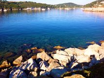 Bay view in Porto Azzurro,  Italy Stock Photography