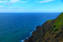 The Bay View. The stunning bay view of Byron Bay royalty free stock images