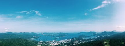 Bay view. Take the photo on 16 Apr 2017 in Hong Kong Royalty Free Stock Photography