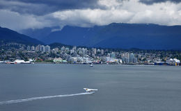 Bay view of vancouver. Bay view with water airplane and city view of north vancouver Royalty Free Stock Images