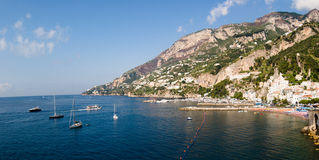 Bay and village Amalfi Stock Images