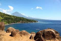Bay in the village of Amed, Bali Royalty Free Stock Photos