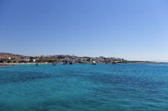 Bay and village in Ano Koufonisi island, Cyclades, Greece Royalty Free Stock Photography