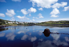 Bay and village of Clifden, Ireland Stock Photography
