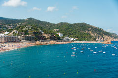 Bay of Village of Tossa de Mar Stock Photo
