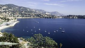 Bay Villefranche. Bay of Villefranche sur Mer on a calm autumn day Royalty Free Stock Image