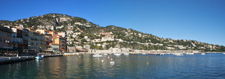 The bay of Villefranche-sur-Mer Stock Photography