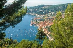 Bay of Villefranche-sur-Mer Royalty Free Stock Photo