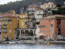 The bay of Villefranche-sur-Mer, France. Villefranche-sur-Mer is a commune in the Alpes-Maritimes department in the Provence-Alpes-Côte d'Azur region on the Stock Photos