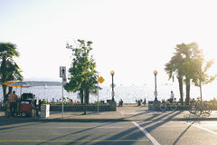 Bay Walk during Day Light Landscape Royalty Free Stock Images