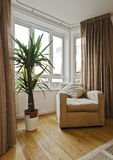Bay window with armchair Royalty Free Stock Image