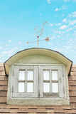 Bay Window on the Facade of House. Under blue sky Royalty Free Stock Image