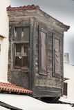 Bay window Rhodes old town Royalty Free Stock Image