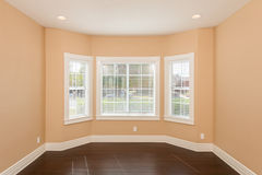 Bay Window Vacant Room Stock Image