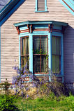 Bay Window and Wysteria Royalty Free Stock Photos