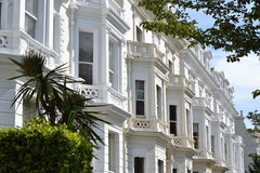 Bay windows grand villas Notting Hill London Royalty Free Stock Photography