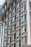 Bay Windows in Old Stone Hotel Stock Image