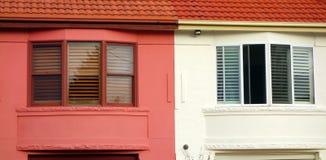 Bay Windows, Semi Detached Houses Stock Photo